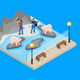 Isometric Workers in Zoo Concept