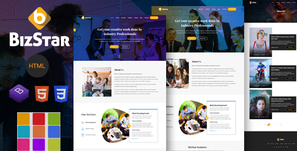 BizStar - Responsive Multi-Purpose HTML Template - Site Templates