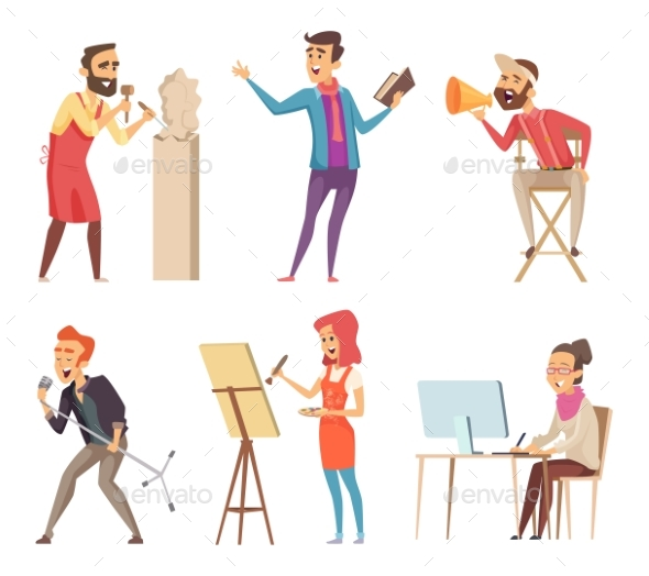 Different Characters of Creative Professions - People Characters