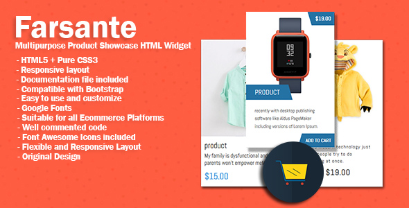 Farsante  Multipurpose Product Showcase HTML Widget            Nulled