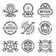 Labels Template Design with Gears and Chains
