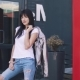 Fashionable Girl in Jeans and a Shiny Jacket - VideoHive Item for Sale