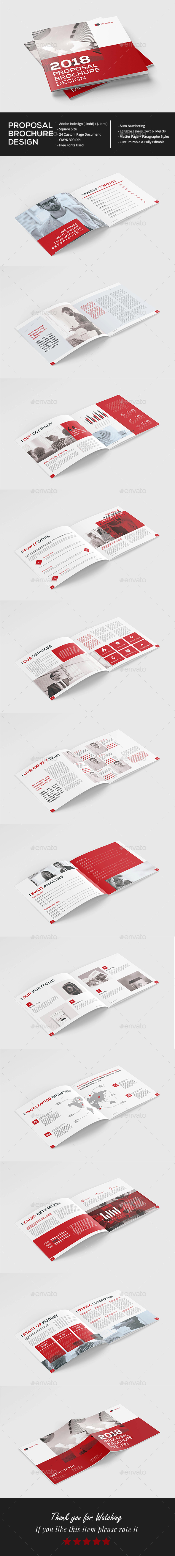 Square Proposal Brochure - Brochures Print Templates