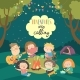 Kids Sitting Around Bonfire and Roasting - GraphicRiver Item for Sale