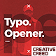 Modern Typo Opener - VideoHive Item for Sale