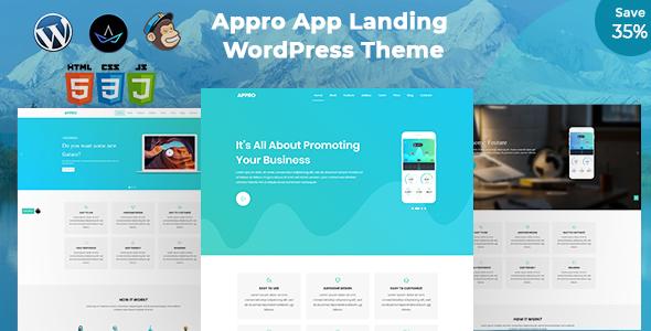 App Landing WordPress Theme