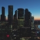 Moscow City Business Center and Cityscape at Summer Morning Twilight. Russia. Aerial View - VideoHive Item for Sale