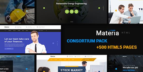 Materia - Consortium Multiuse Pack HTML5 & CSS3 Template - Corporate Site Templates