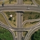 Aerial View of a Turbine Road Interchange in Kiev. Cityscape in Summer - VideoHive Item for Sale