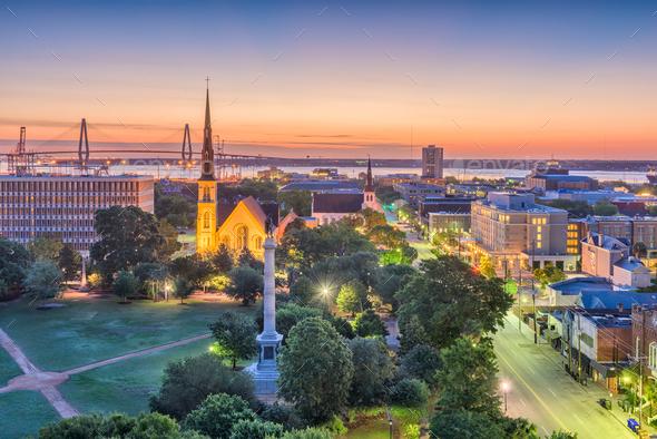 Charleston, South Carolina, USA Cityscape - Stock Photo - Images