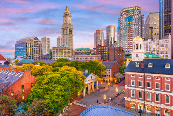 Boston, Massachusetts, USA - Stock Photo - Images