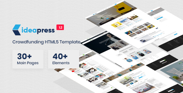 Image of Ideapress - Crowdfunding & Fundraising HTML Template