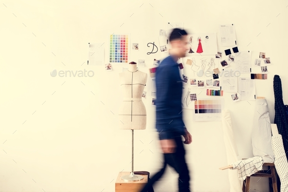 Blurred image of a man walking - Stock Photo - Images