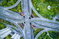aerial view of elevated road junction in shanghai  - PhotoDune Item for Sale