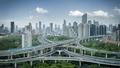 city interchange panorama in shanghai - PhotoDune Item for Sale