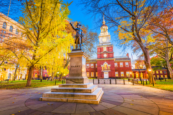 Philadelphia, Pennsylvania at Independence Hall - Stock Photo - Images