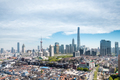 modern shanghai skyline and the old city area - PhotoDune Item for Sale