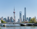 beautiful shanghai cityscape, view from suzhou river - PhotoDune Item for Sale