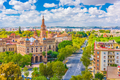 Seville, Spain cityscape with Plaza de Espana - PhotoDune Item for Sale
