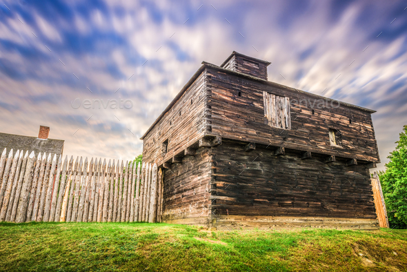Fort Western, Augusta, Maine - Stock Photo - Images