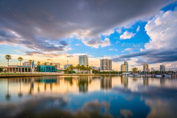 St. Petersburg, Florida, USA Skyline - Stock Photo - Images