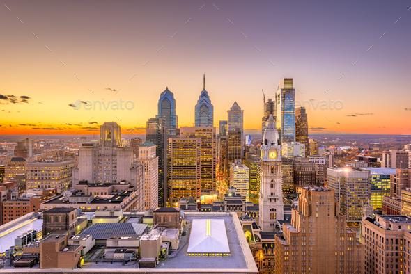 Philadelphia, Pennsylvania, USA Center City - Stock Photo - Images