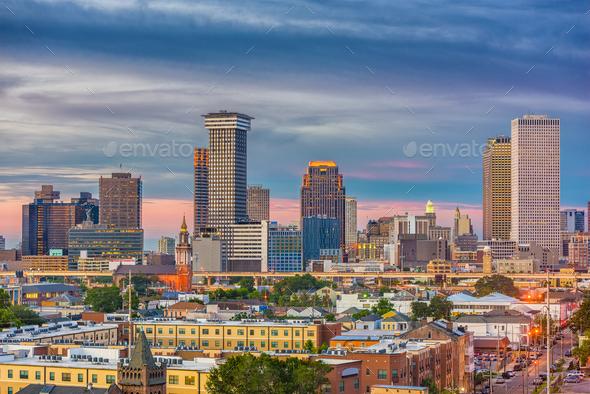 New Orleans, Louisiana, USA Skyline - Stock Photo - Images