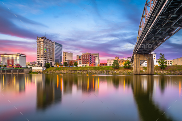 Charleston, West Virginia, USA Skyline - Stock Photo - Images