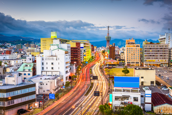 Beppu, Oita, Japan Skyline - Stock Photo - Images