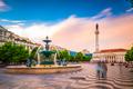 Rossio Square, Lisbon, Portugal - PhotoDune Item for Sale