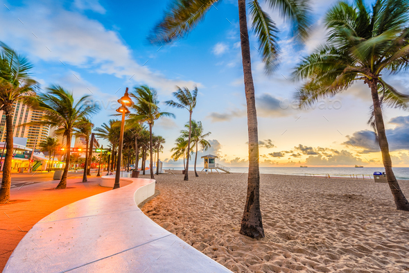 Ft. Lauderdale Beach, Florida, USA - Stock Photo - Images