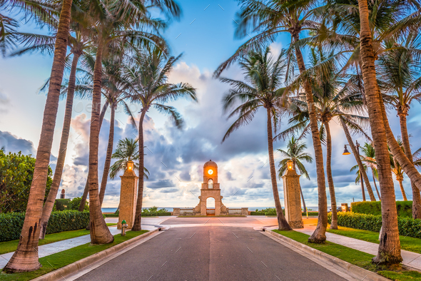 Worth Ave, West Palm Beach, Florida - Stock Photo - Images