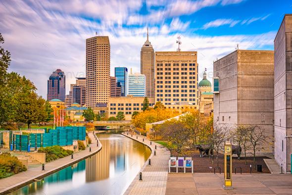 Indianapolis, Indiana, USA Skyline - Stock Photo - Images