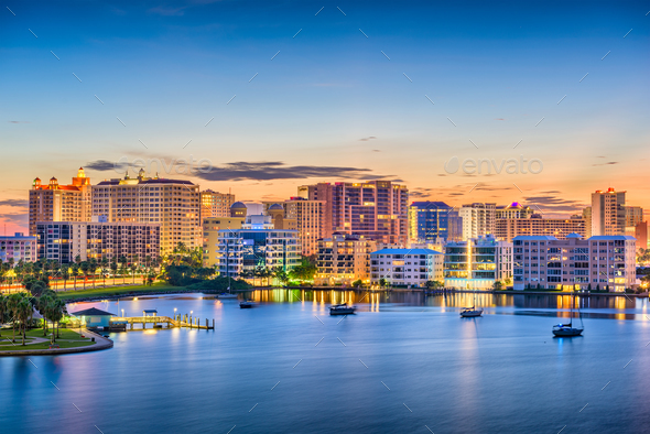 Sarasota, Florida, USA Skyline - Stock Photo - Images
