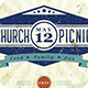 Retro Vintage Church Picnic Flyer Print Template