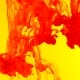 Ink in Water. Red Paint on Yellow Reacting in Water Creating Abstract Cloud formations.Can Be Used - VideoHive Item for Sale