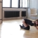 Girl Dancing Lying on the Floor - VideoHive Item for Sale