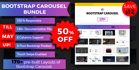 Bootstrap Carousel Bundle - CodeCanyon Item for Sale