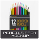 Colored Pencils 12 Pack Mock-Up - GraphicRiver Item for Sale