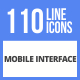111 Mobile Interface Filled Line Icons