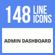 148 Admin Dashboard Filled Line Icons