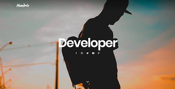 Hendrix - Personal Portfolio HTML Template - Personal Site Templates