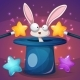 Magic Trick with Wand and Rabbit - GraphicRiver Item for Sale
