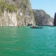 Floating on Boat in Bay of Phi Phi Leh Island - VideoHive Item for Sale