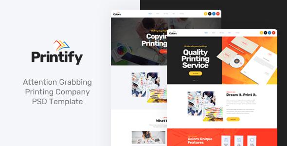 Printify – Attention Grabbing Printing Company PSD Template