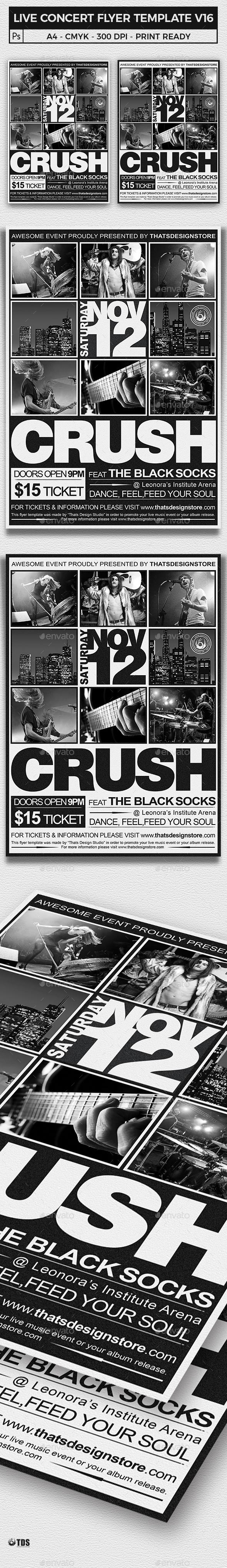 Live Concert Flyer Template V16 - Concerts Events