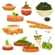 Tasty Nutritious Snack with Vegetables and Sauces - GraphicRiver Item for Sale