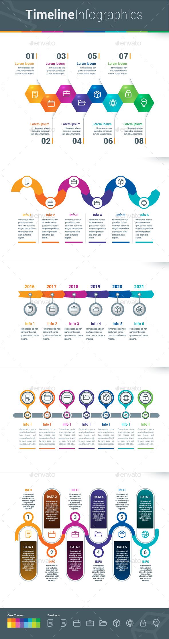 Infographic Elements - Timeline - Infographics