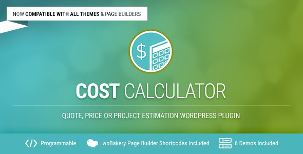 Cost Calculator - WordPress Plugin - CodeCanyon Item for Sale