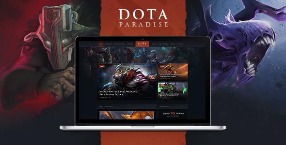 Image of Dota Paradise | Gaming Blog & Clan WordPress Theme